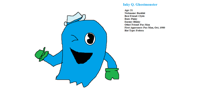 Inky Q. Ghostmonster by PacandPinky101