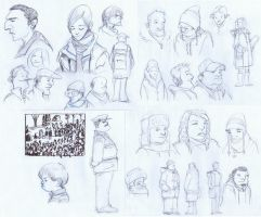 Various People Sketches by Zubby
