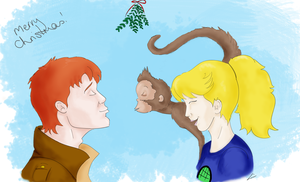 Hows About a Christmas Kiss? by MudgetMakes