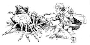 Bilbo Baggins vs. Spider by Lipatov
