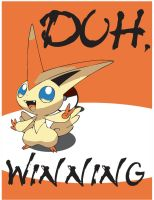 Duh, Victini by Mr-Sackboy