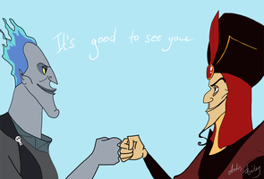 Jafar and Hades: It's good to see you by ArdisBailey