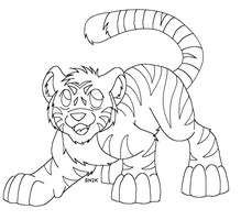 Tiger Cub Lineart MSP by sailorharmony2000