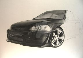 Drawing a Honda Civic step 5 by Per-Svanstrom