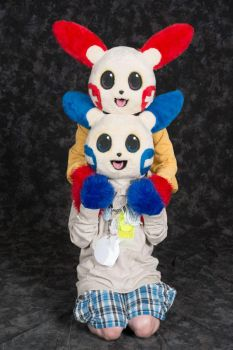Plusle and Minun at Anthrocon 2015 Always Family by Uluri