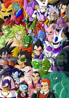 Dragon Ball Bad Guys by PerisIllustration