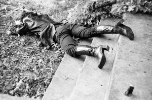 girl shot dead in the grass 3 by Scilla-Necis