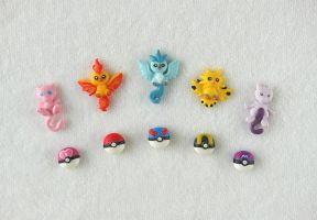 Pokemon Legendarys - Earstud Collection by LittleBreeze