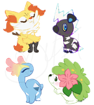 Pokecon Stickers: 1 by CoffeeCupPup