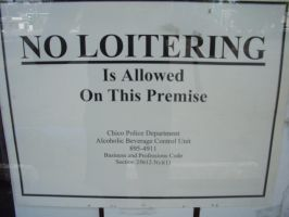 No Loitering on this Premise by Eris-stock