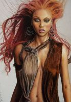 Tyra Banks by LMan-Artwork