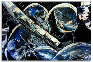 Spray painting Abstract - blues music by Airgone