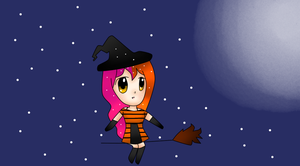 Witch on Broom by BL8antBand