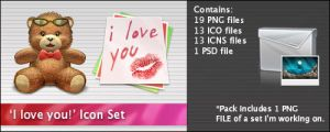 'I Love You' Icon Set by kzzu