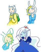 drawing adventure time time :D by Cloverminto