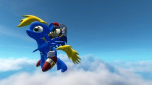sonic rides winger in a sky by sonicdevil18