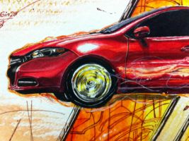 Darting through reality - Detail of car 2 by apra-art