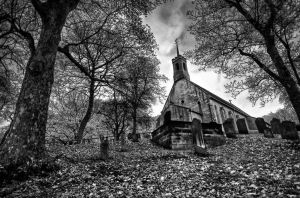 The Church on the Hill by Wayman