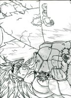 Requested Drawing   Broly Smash by ArturiaofCamelot