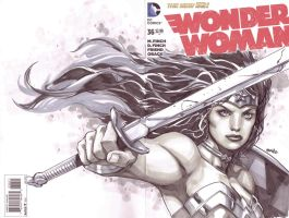 Wonder Woman Cover sketch by popmhan
