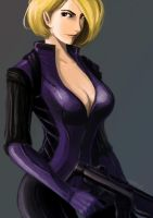 Jill Valentine RE3 with RE5 battlesuit by microcastle