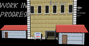 Pokemon Style Buildings W.I.P. by The-Horrible-Mu