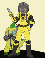 Male Hazard Worker concept Basic coloring by JDogindy