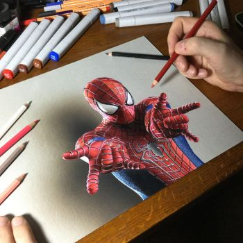 Amazing Spider-Man Drawing by marcellobarenghi