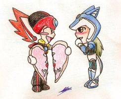 Chibi Axl and Dada XI by Marluxialover11