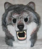 Werewolf Mask -- Front View by Scyndariel