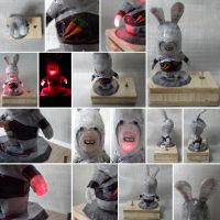 Raving Rabbids Assassins Creed Papercraft by Mironius