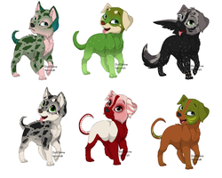 Dog Adoptables 1 by Taylor12323