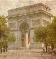 Old paris: Arc de triomphe by MissFeeNoire