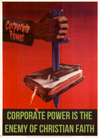 Corporate Power Is The Enemy of Christian Faith by poasterchild