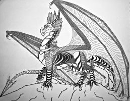Kaine and Thorinen: Dragon and Rider- Sketch by Saberrex