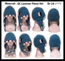 Minecraft - OC Lazasaur Hat by LiliNeko