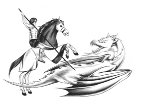 St. George and dragon - final by DarkAngels777