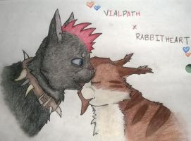 Vialpath and Rabbitheart (redraw) by SketchyPawz