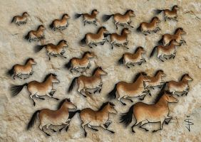FIN-Cave-Horses-Cheval by NorthumbrianArtist