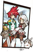 OrderOfElsword:- David and Emalia by QueenArtic