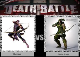 DEATH BATTLE Idea Hawkeye VS Green Arrow by JefimusPrime