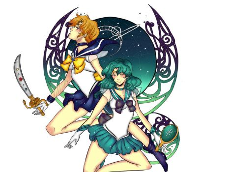 Silor neptune and uranus by Invader-celes