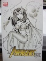 Scarlett Witch sketch SDCC by billmausart