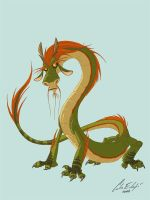 Chinese Dragon Cartoon by Kaek