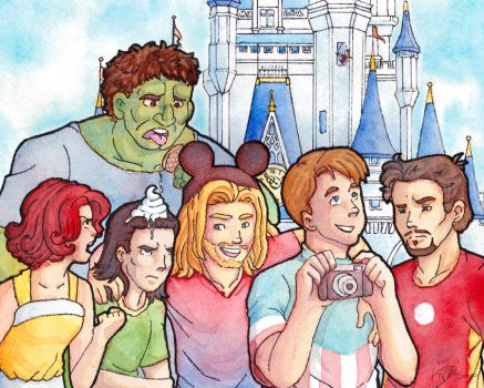 Avengers Victory Vacation by LauraDoodles