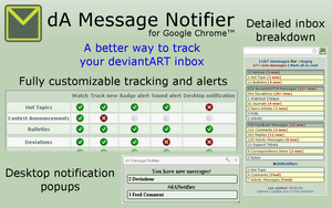 dA Message Notifier for Chrome by logeg