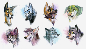 Watercolor Peeps by Tsebresos