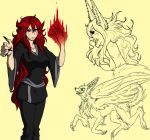 Red Queen of fire by FoofooDaBoss