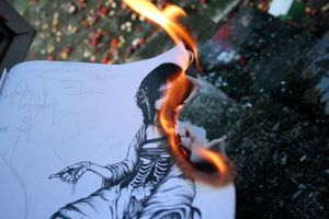 the burning of Book Six by Matriarch667