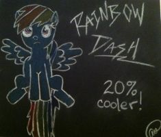 Rainbow Dash- 20% Cooler. by NotSoCuteAndFuzzy